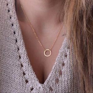Jewelry - ⭐️*4 for $23* dainty circle necklace silver/gold